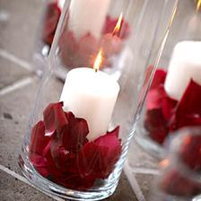 svíčka ve skle