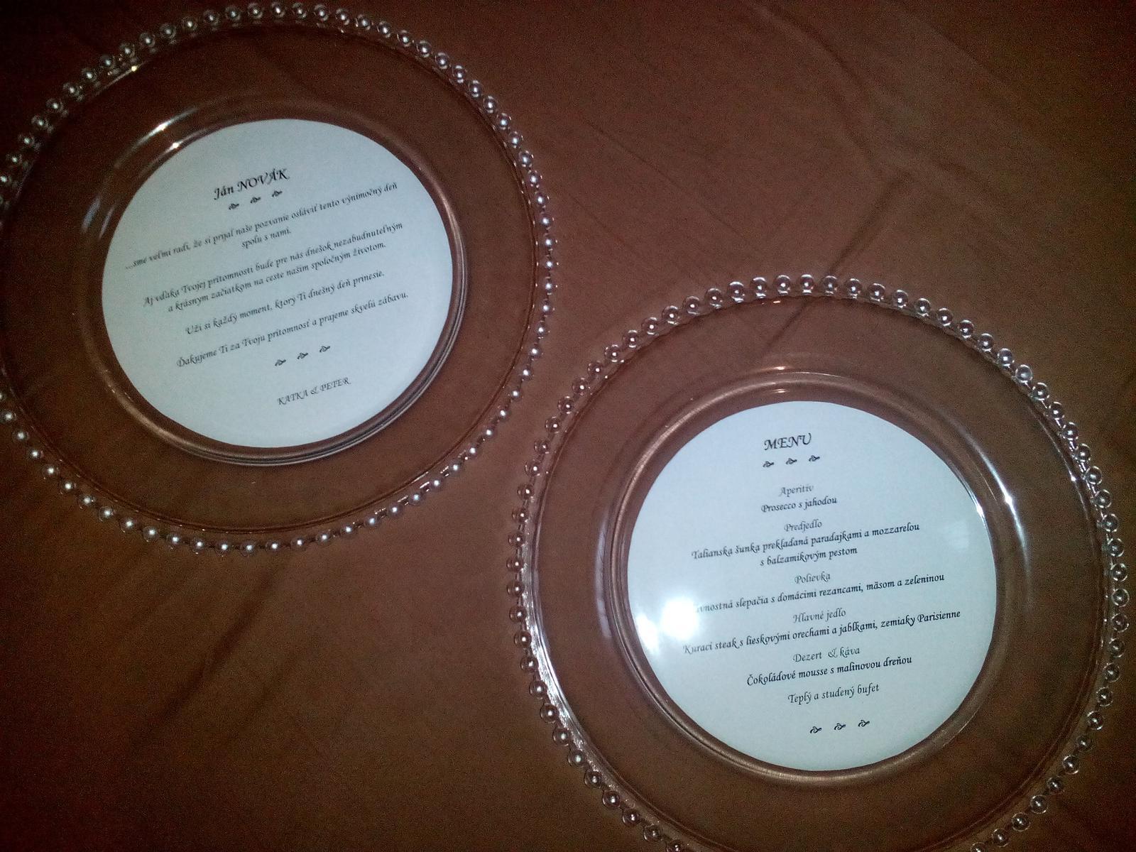 Sklenené klubové taniere - Obrázok č. 1