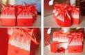 Krabičky na mandle - Candy box - červená,
