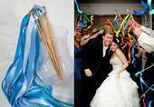 Stužkové konfety - mávátka - modrá,