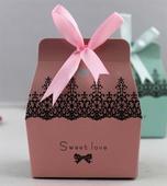 Krabičky na mandle - candy box - růžová,