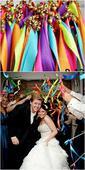 Stužkové konfety - mávátka - mix barev,