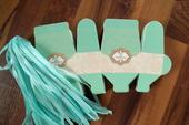 Krabičky na mandle - candy box - modrá/zelená,