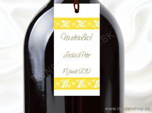 Na fľaše ;) len to čo je žlté bude ružové :)