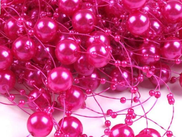Moje ružové predstavy :) - Perličková girlanda objednaná!! ;) http://www.vyzdoba-dekoracie.sk/dekoracie/eshop/