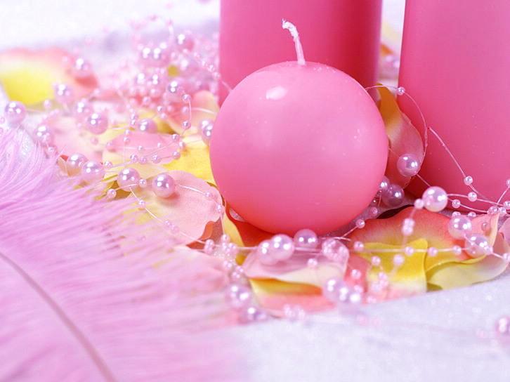 Moje ružové predstavy :) - Sviečky :) objednané!!