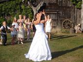 Svatební šaty 36-38 se spodničkou, 38