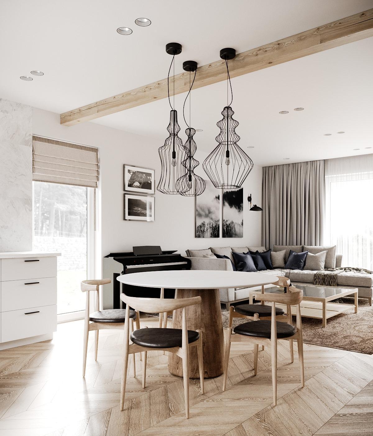 Drevodomcek_na_vychodze - Vizualizácie zariadenia obývačky. ľúbime čierne akcenty, tie určite budú. :)