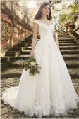Nepoužité bílé šaty, vel.34-40 (šněrování), 36