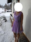 nepoužité Lila šaty - šněrovací (cca 38-40), 38