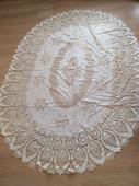 Vinylový krajkový ubrus 185 x 135 cm,