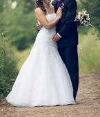 Svatební šaty pro menší nevěstu, 38