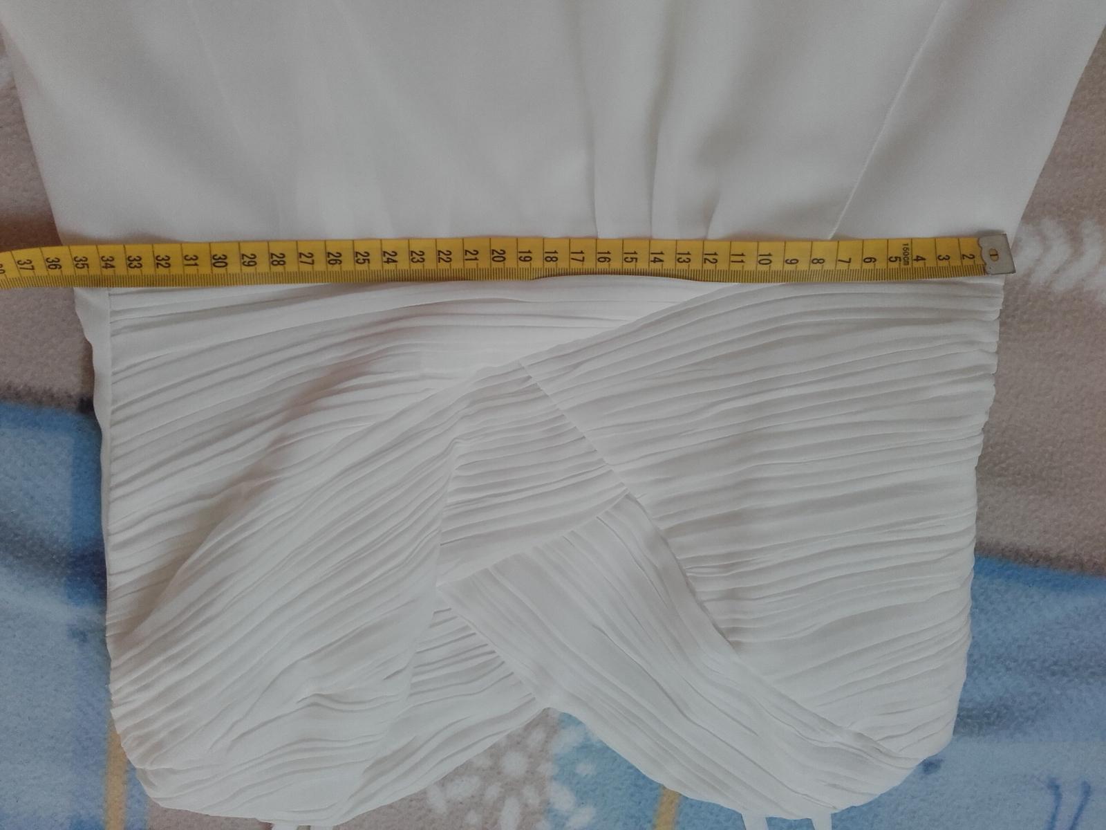 Krátké bílé šaty E.L., vel. 38 - Obrázek č. 4