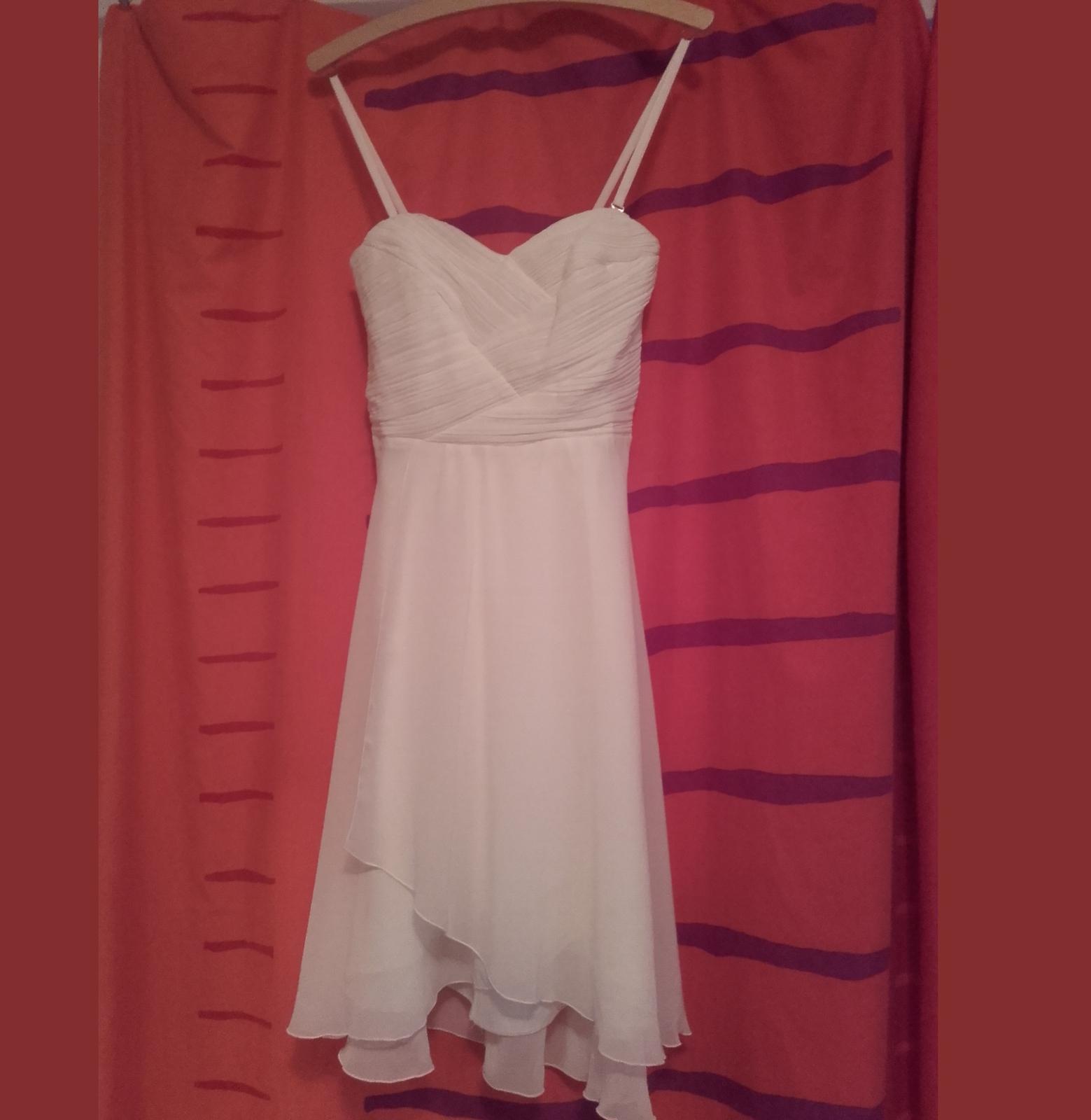 Krátké bílé šaty E.L., vel. 38 - Obrázek č. 1