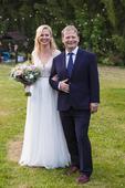 Boho svatební šaty s krajkou, 36