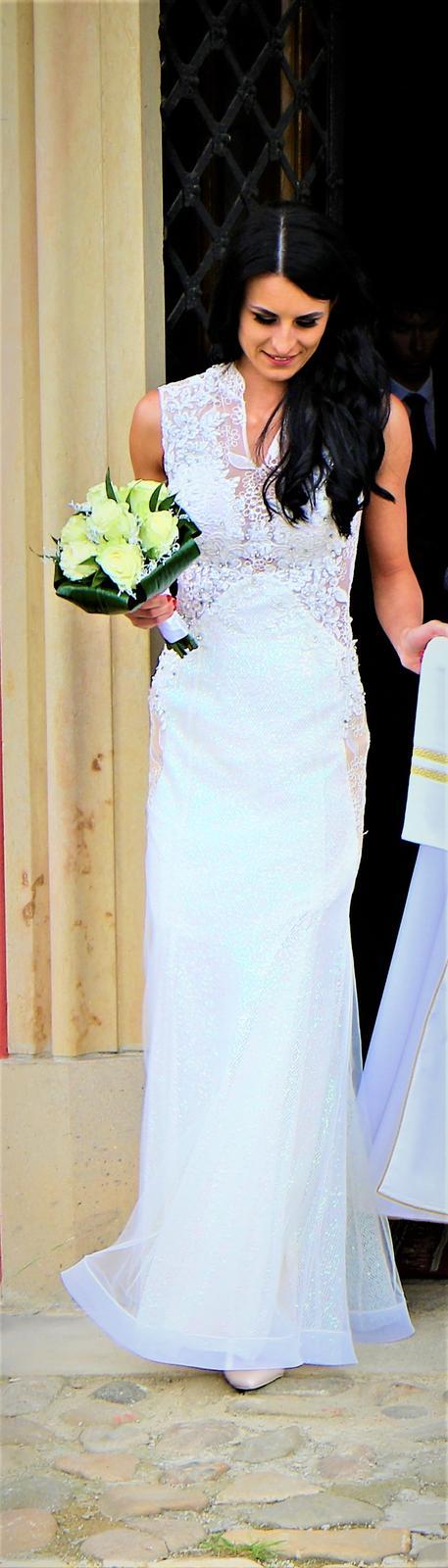Svadobné šaty- Popolnočné šaty  - Obrázok č. 1