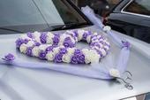 Kompletní výzdoba auta ženich + nevěsta,