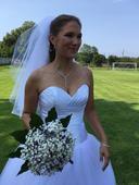 1 použité svatební šaty, velikost 36 - 42, 40