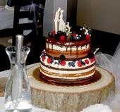 zápich na dort - nevěsta, ženich pes,