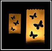 papírové sáčky / lampiony /na svíčky - motýlci,