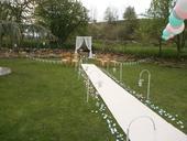 Svatební koberec - bílý 2ks x 5 metrů,