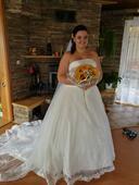 Svatební šaty 48 velikost, 48