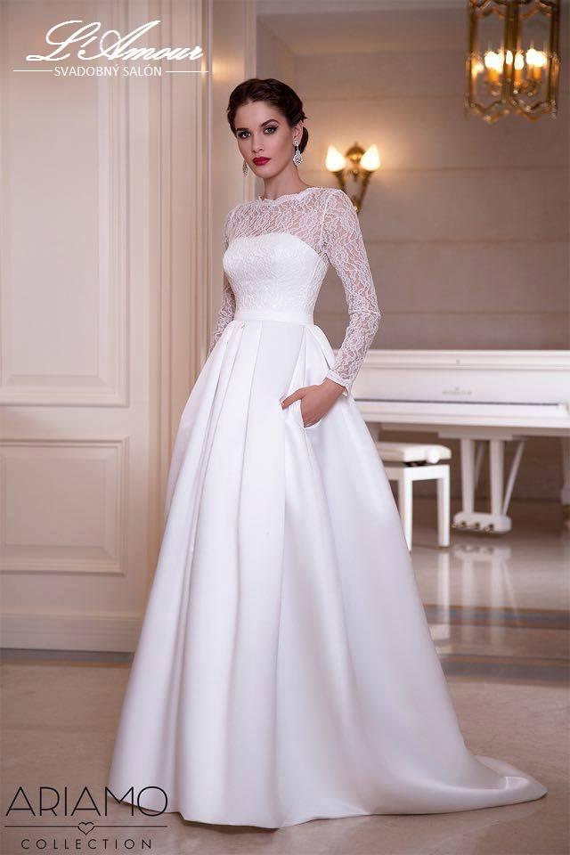 946eab42e286 Kde zoženiem jednoduché svadobné šaty s vreckami  ...