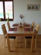 stůl i židle jádrový buk a naprostá spokojenost