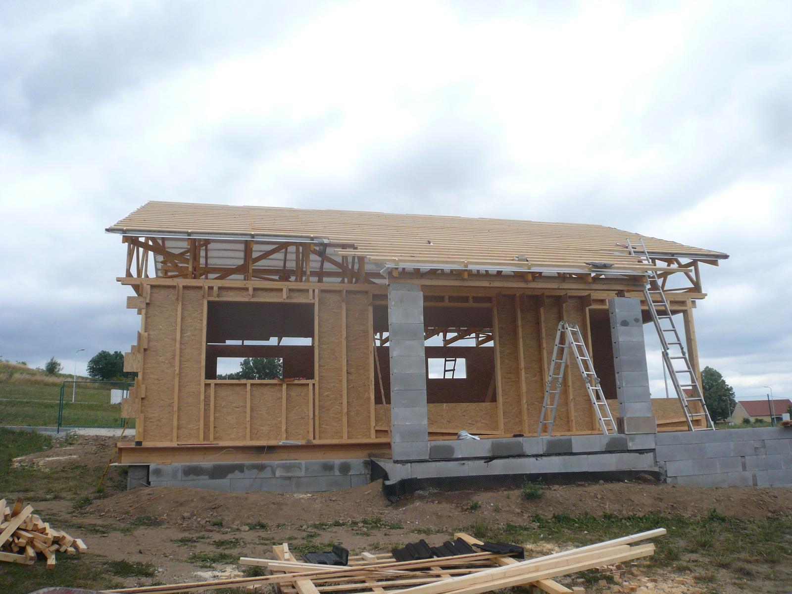 Pasivní dřevostavba na betonových patkách S. Hoštice - Obrázek č. 21