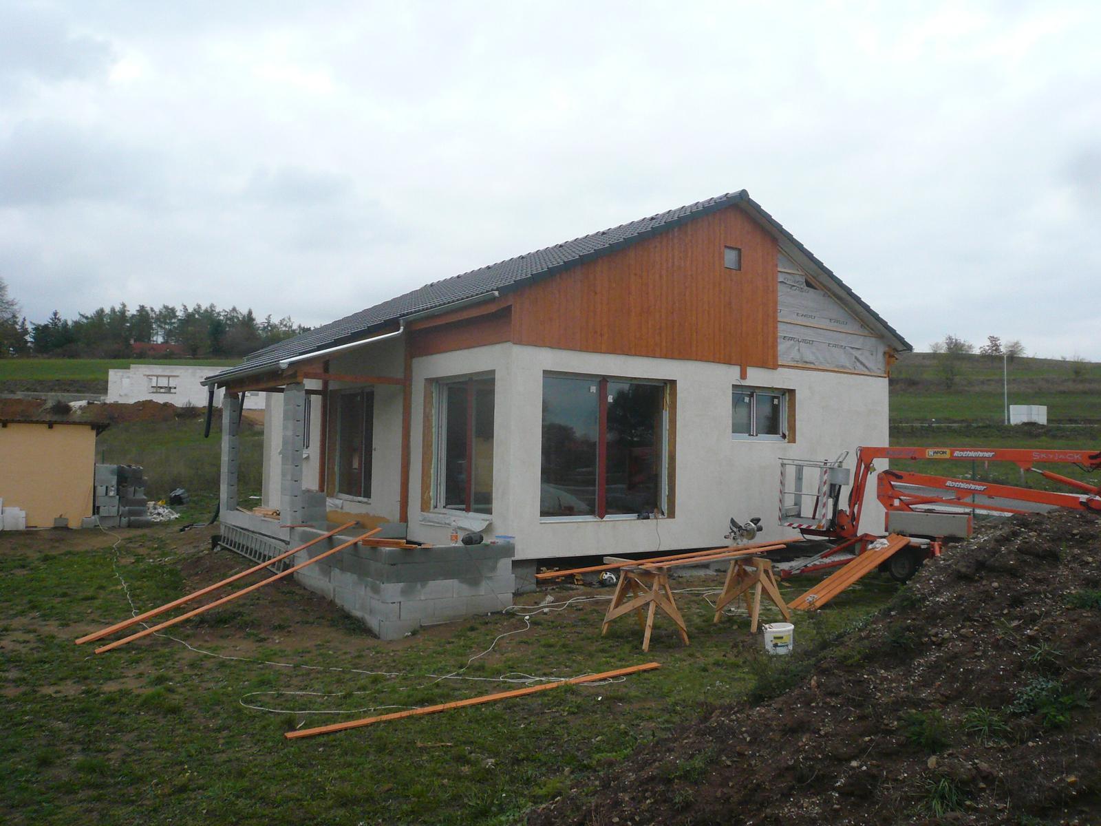 Pasivní dřevostavba na betonových patkách S. Hoštice - Obrázek č. 28
