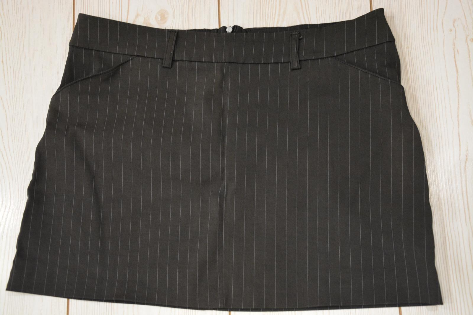 Šedá mini sukně - Obrázek č. 1