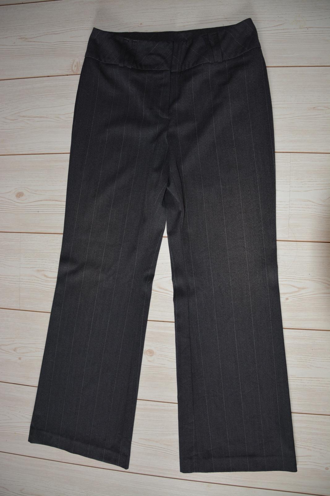 Tmavě šedé kalhoty s proužkem NEXT - Obrázek č. 1