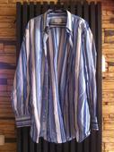 Modro-bílá proužkovaná košile, 44