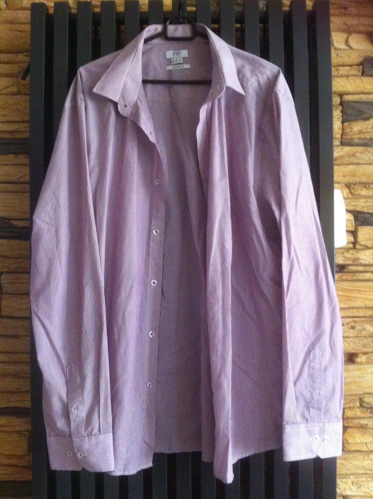 Fialovo-bílá proužkovaná košile značky F&F - Obrázek č. 1