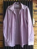 Fialovo-bílá proužkovaná košile značky F&F, 46