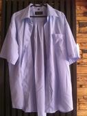 Světle modrá košile s krátkým rukávem, 46