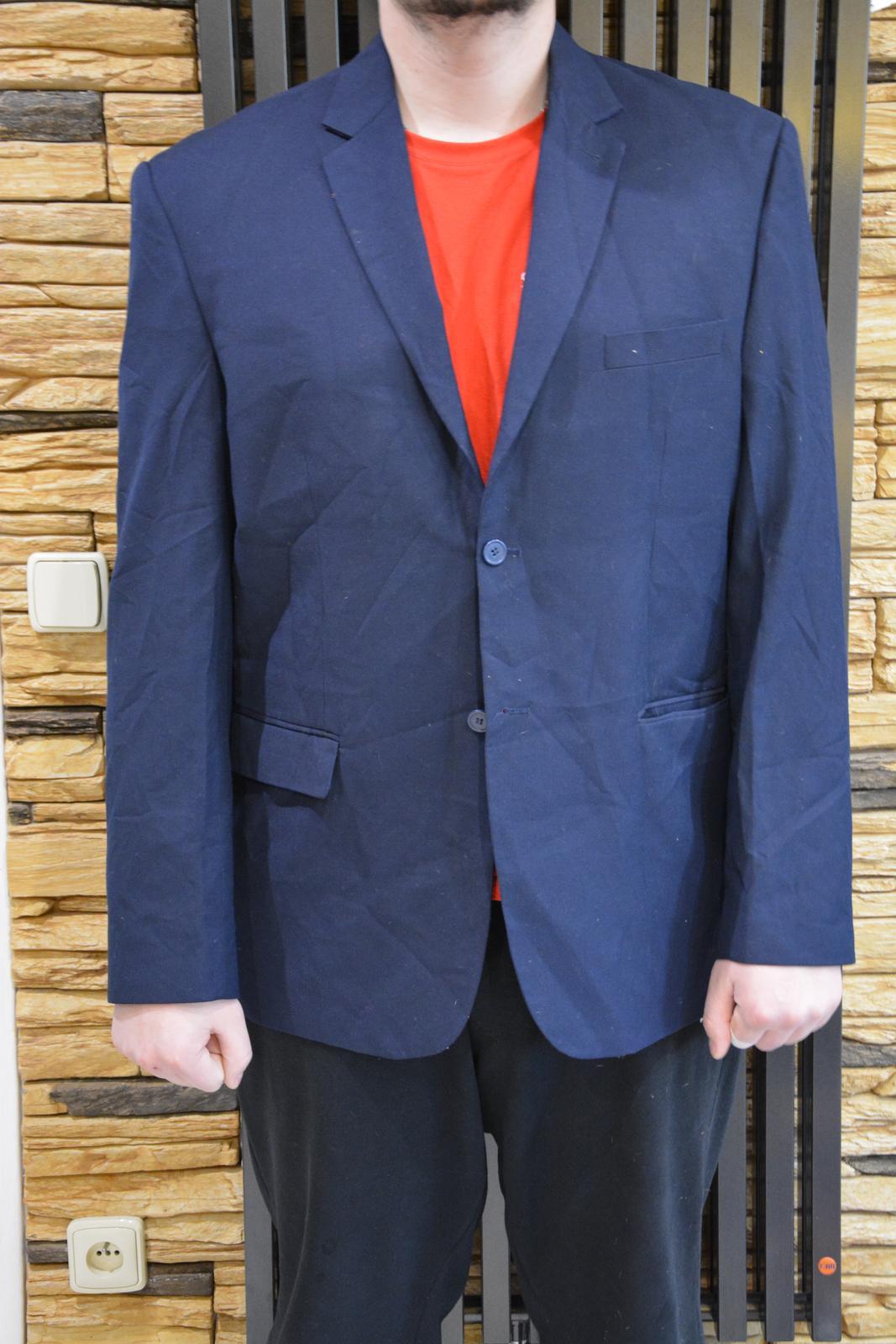 Tmavě modré sako značky MAN - Obrázek č. 1