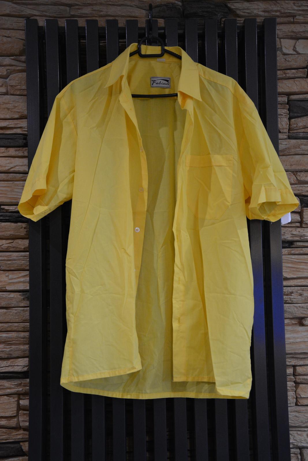 Žlutá košile s krátkým rukávem - Obrázek č. 1