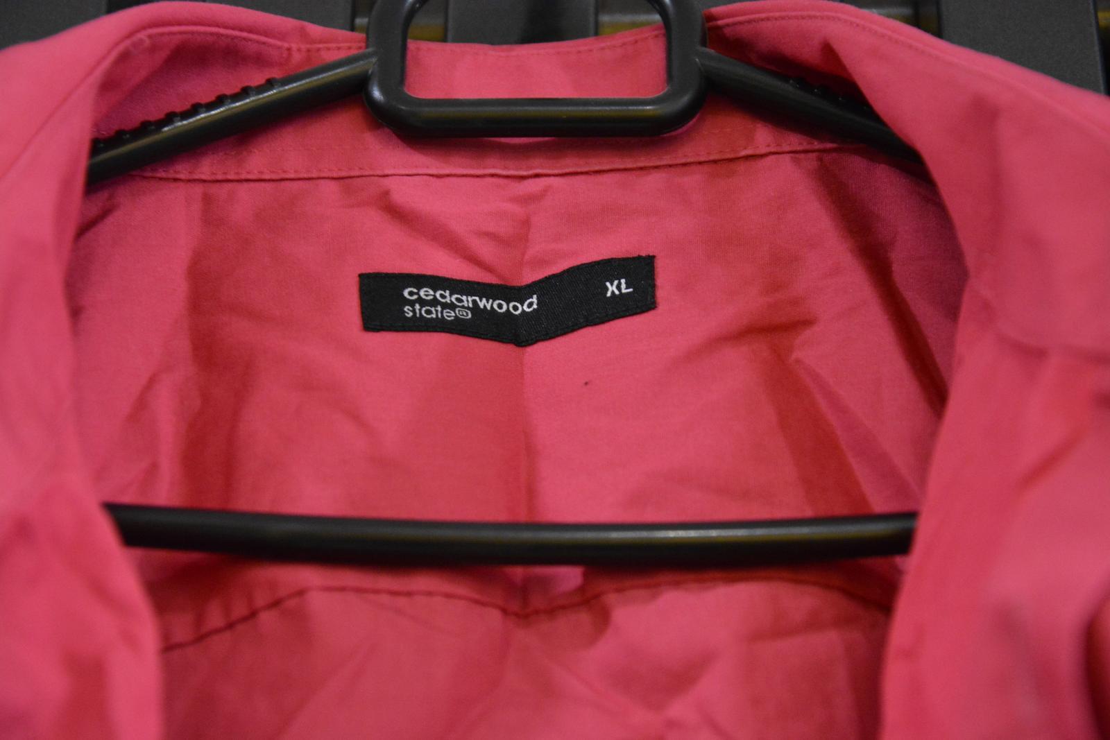 Fuchsiová košile s krátkým rukávem - Obrázek č. 2
