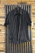 Černá košile s krátkým rukávem, XL