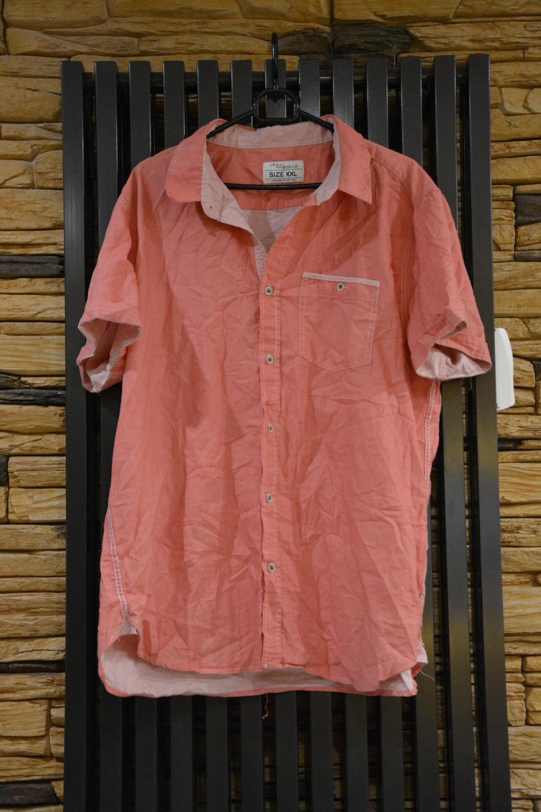 Světle červená košile s krátkým rukávem - Obrázek č. 1