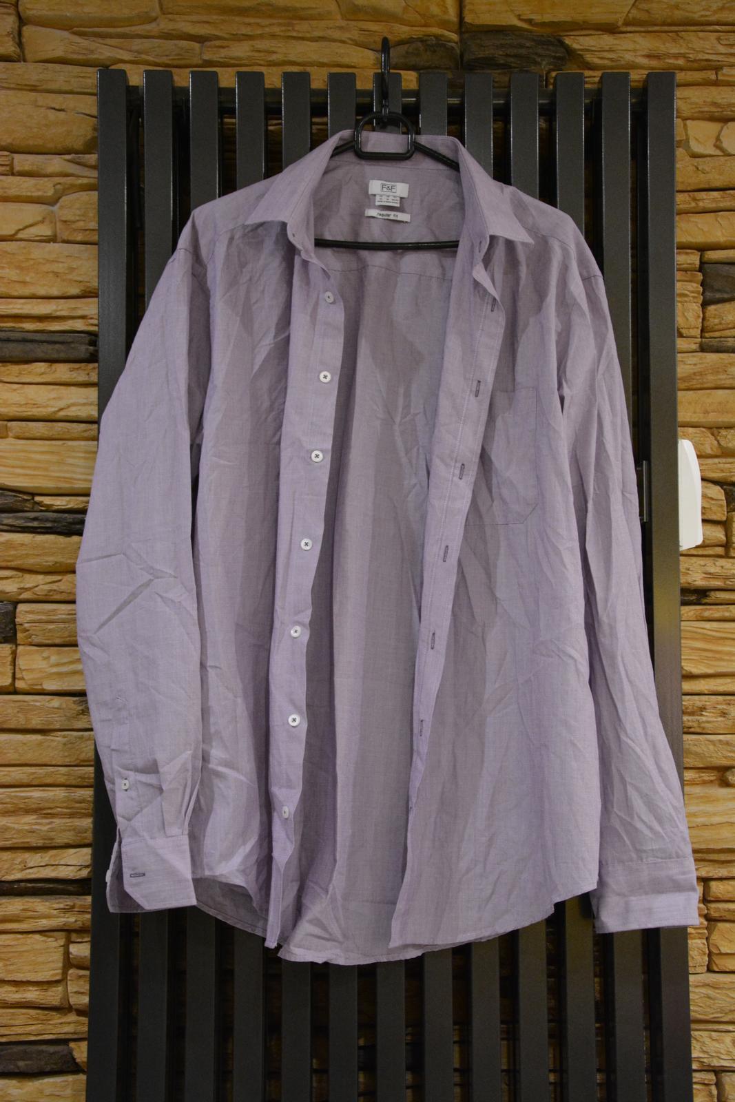 Fialová košile F&F - Obrázek č. 1