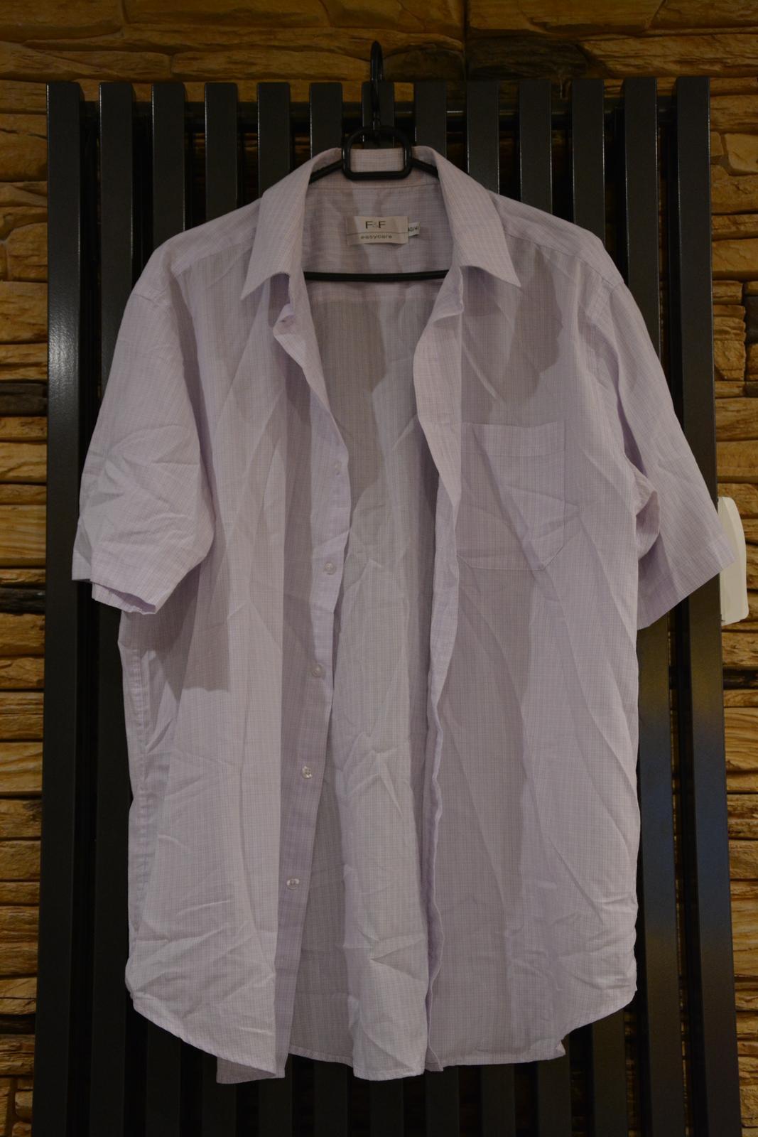 Bílá košile s fialovými proužky F&F - Obrázek č. 1