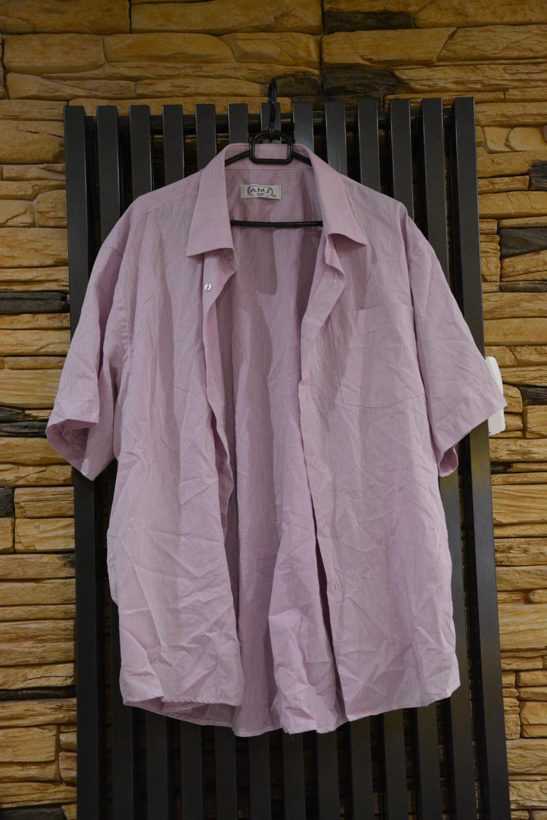 Fialová košile s bílým proužkem - Obrázek č. 1