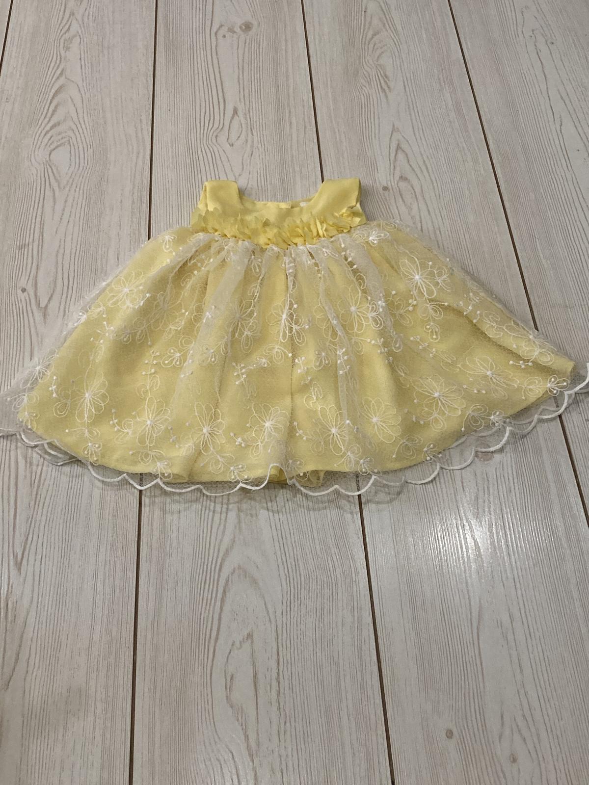 Žluté šatičky s krajkou - Obrázek č. 1