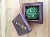 Dřevěná krabička na prstýnky,