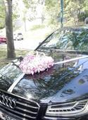 Kvetinové srdce na auto,