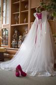 Svatební šaty krajkové vel.38-40, 40