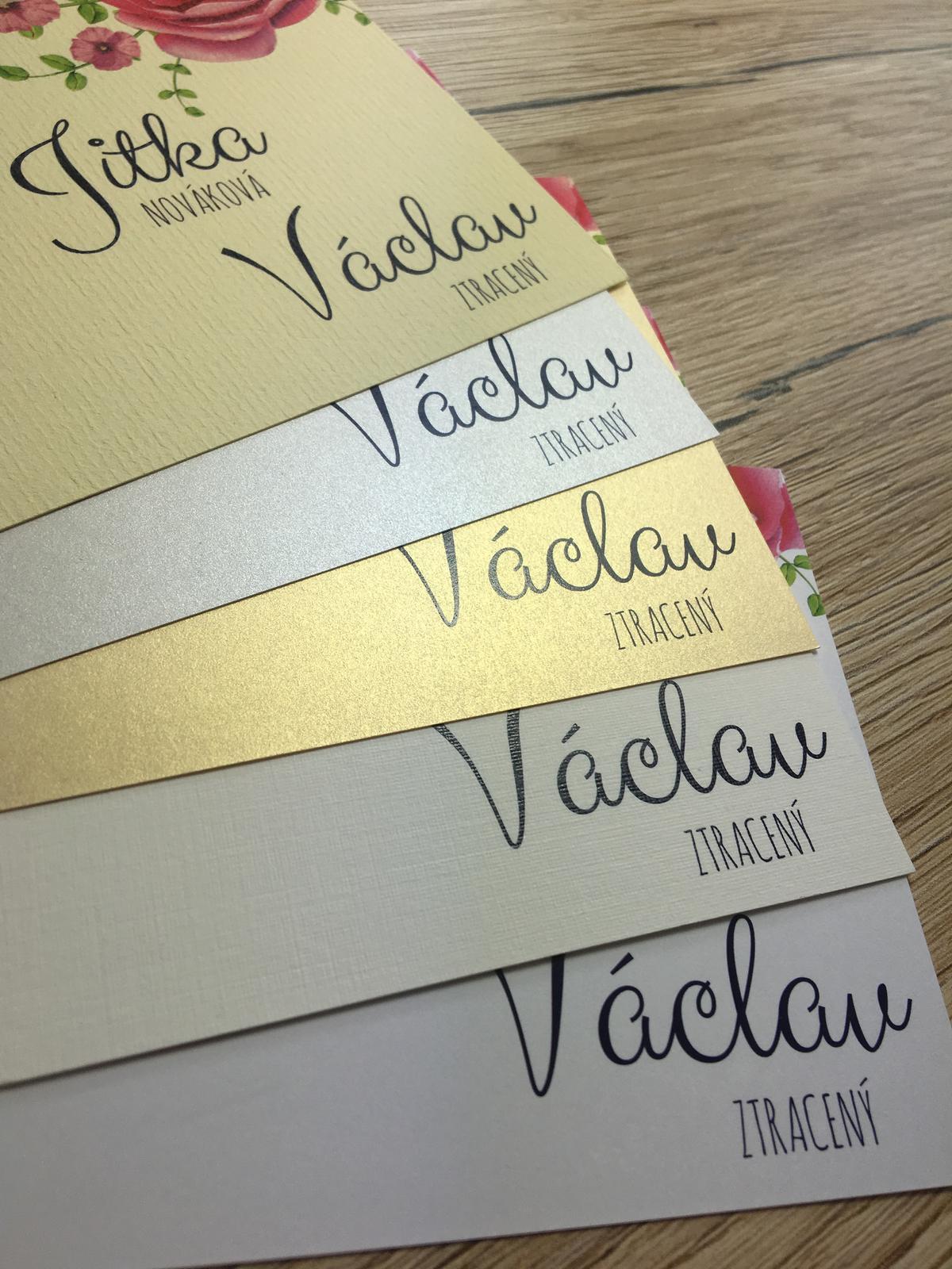 Svatební tiskoviny - Na výběr máte z krásných papírů :-)