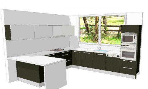 RD SOLID - Kuchynska linka (vizualizacia)